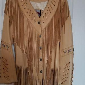 Jackets & Blazers - Lamb Leather Ladies Jacket Size small 6